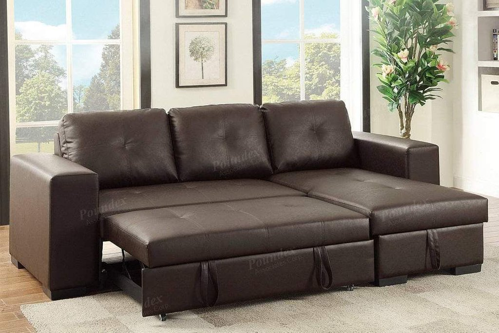 Rich Brown Convertible Sectional Sofa Bed Storage Design Convertible Sectional Sofa Bed