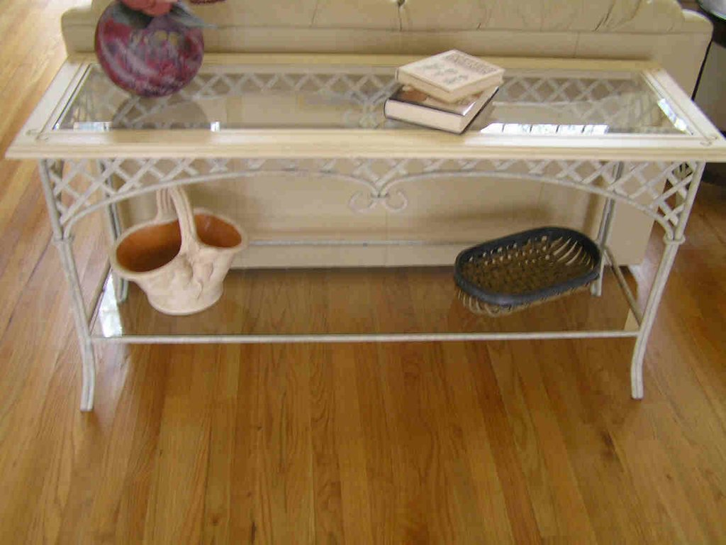 Rod Iron Sofa Table Thesofa How To Restore Wrought Iron End Tables