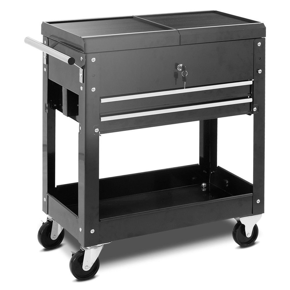 Rolling Mechanic Tool Cart Slide Top Utility Storage Design Rolling Tool Cabinet