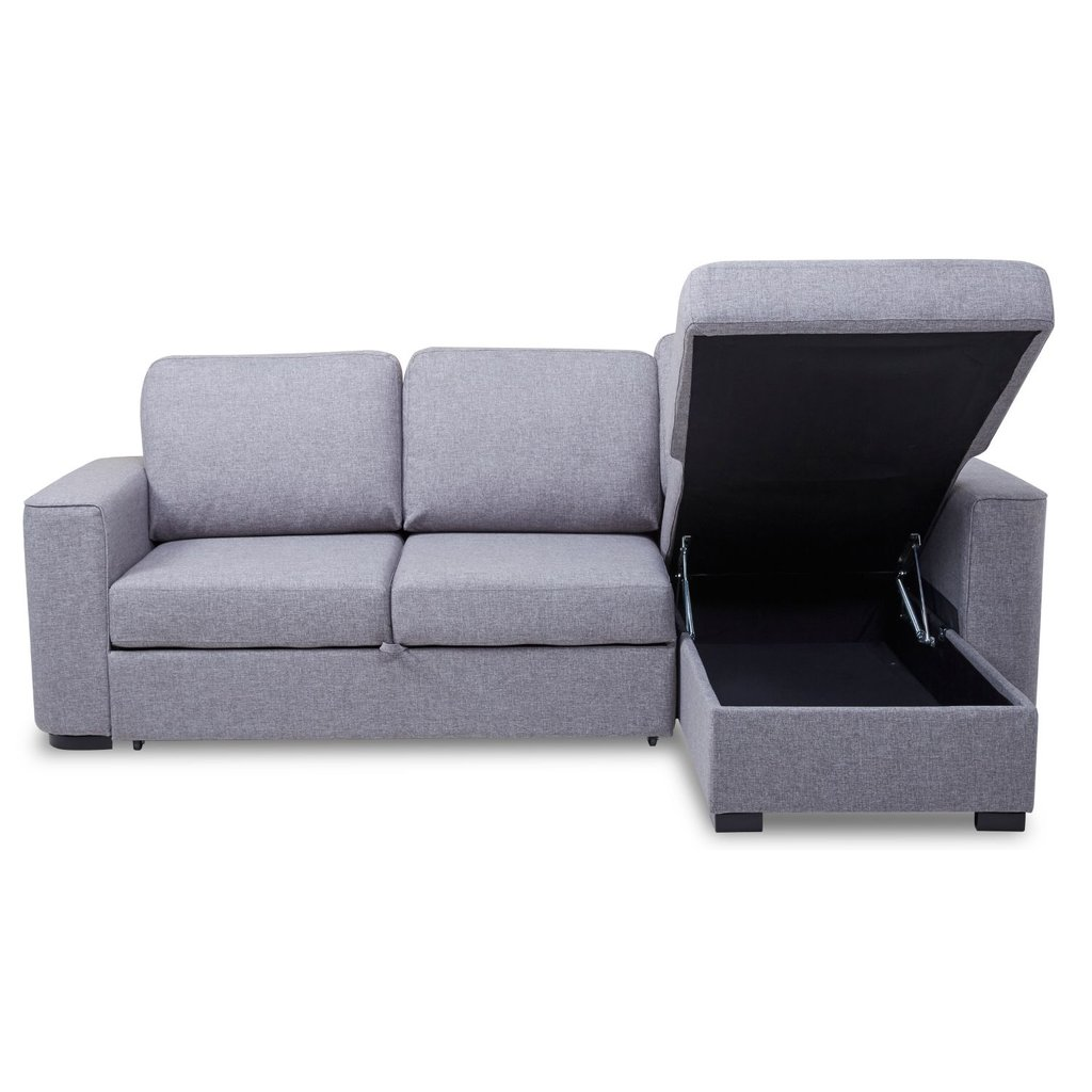 Ronny Fabric Corner Sofa Bed Storage Day Sectional Sofas For Small Spaces Modern