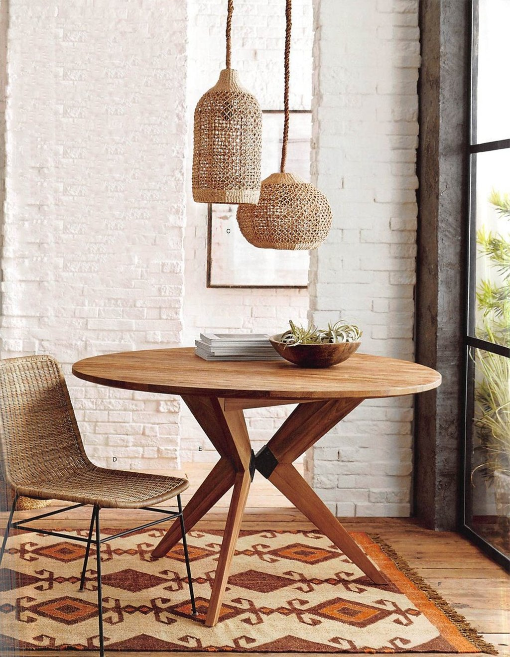 Roost Ingrid Rattan Dining Chair Set 2 Modish Store How To Repair Rattan Dining Chairs