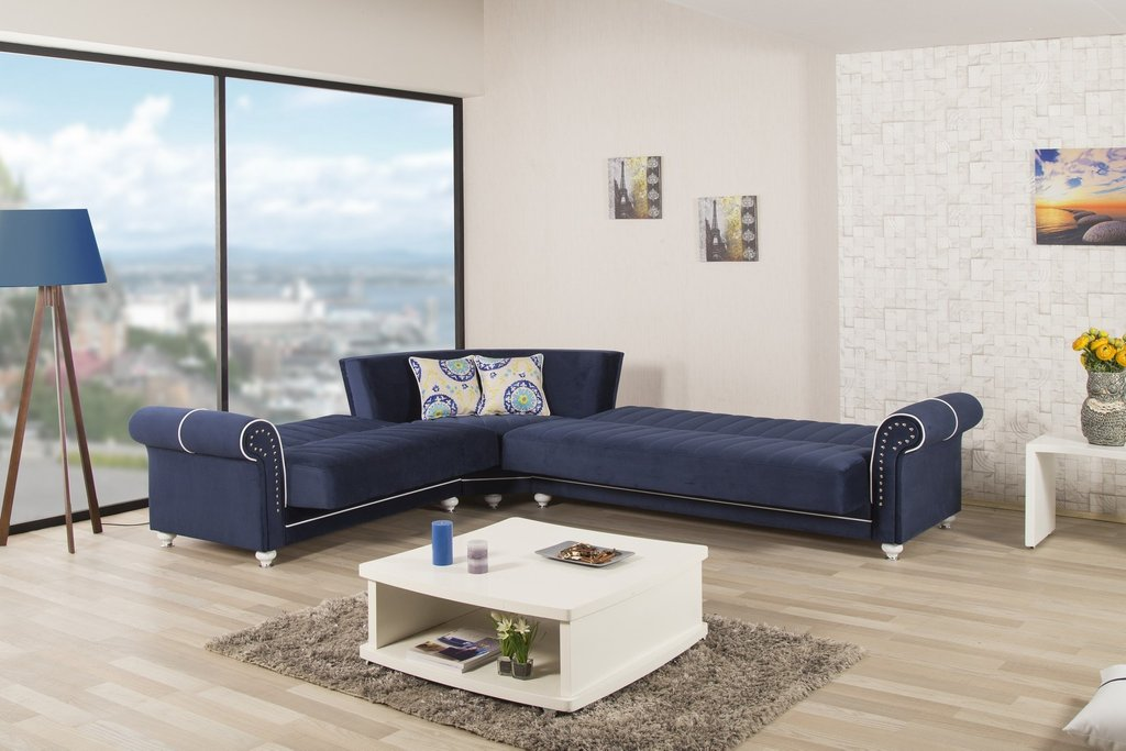 Royal Home Blue Sectional Sofa Royalhome Casamode Deep Sectional Sofas Living Room Furniture