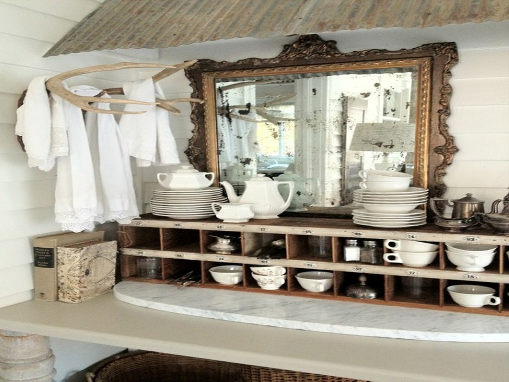 Rustic Chic Decorating Ideas Rustic Shabby Chic Kitchen Make A Dresser Look Distressed Dresser