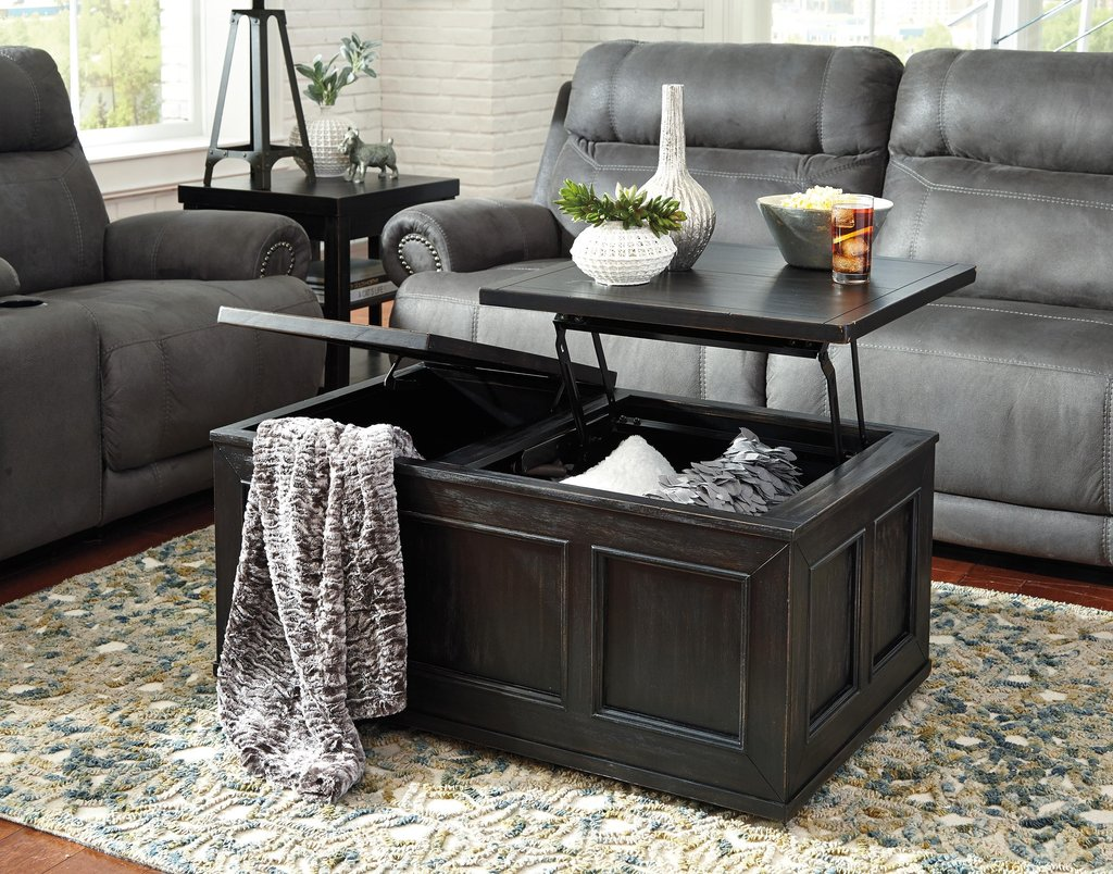 Rustic Distressed Black Trunk Style Lift Top Cocktail A Unique Square Lift Top Coffee Table