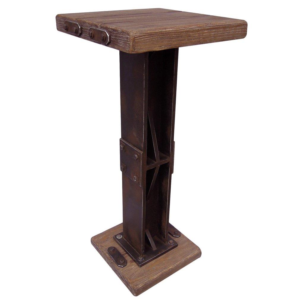 Rustic Forge Bar Height Square Bistro Table Overstock Considering For Square Bistro Table
