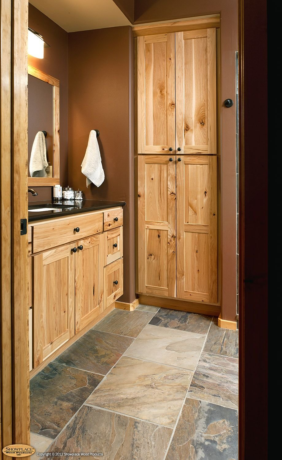 Rustic Hickory Bathroom Vanity Cabinets Rustic Hickory Kitchen Tile Ideas For Hickory Cabinets