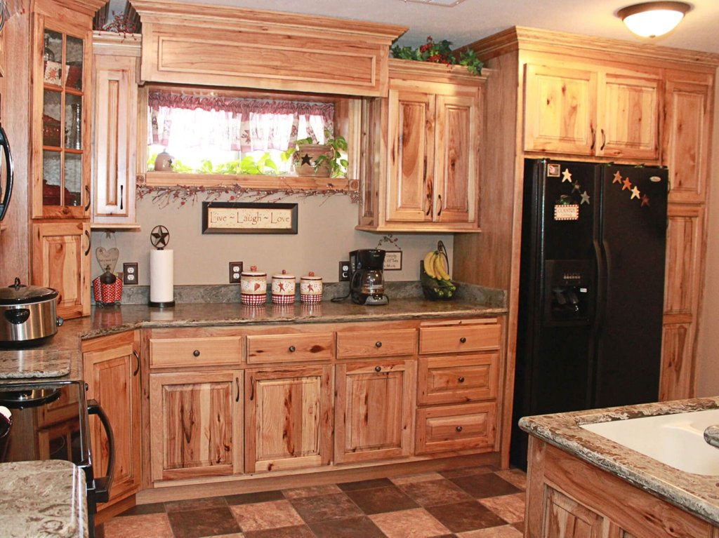 Rustic Hickory Kitchen Cabinet Home Depot Kitchen Tile Ideas For Hickory Cabinets