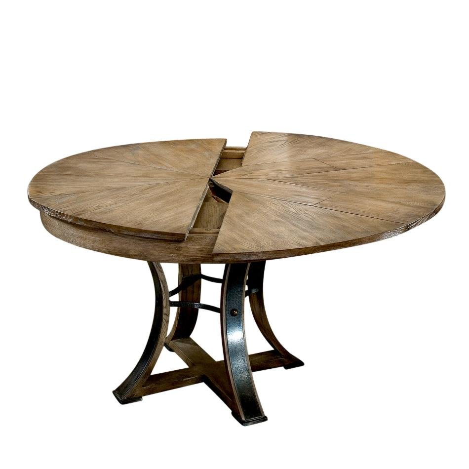 Rustic Metal Wood Dining Table Storing Leaf Round Dining Table With Leaf Butterfly