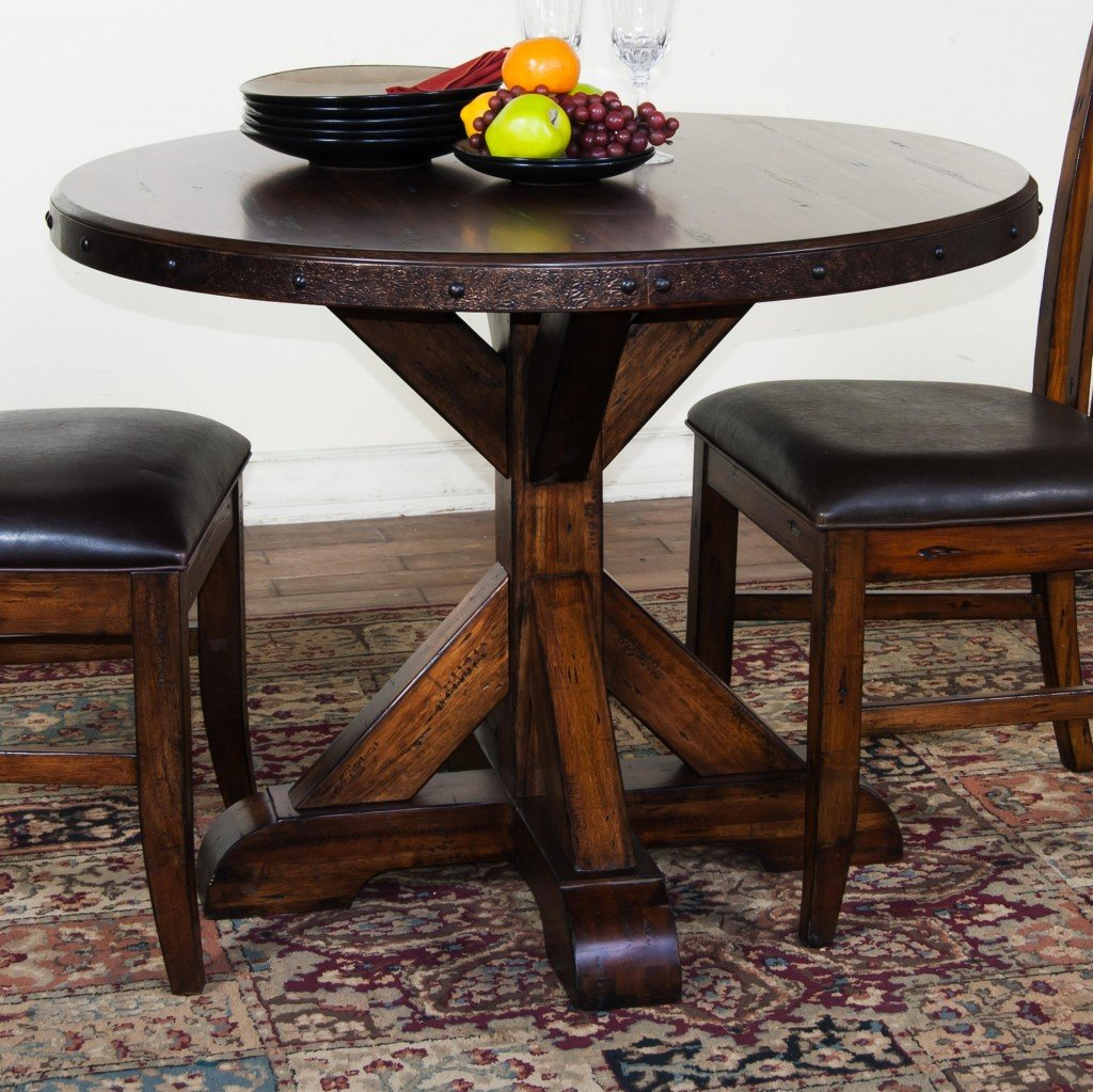 Rustic Wood Dining Table How To Build Round Wood Table Tops