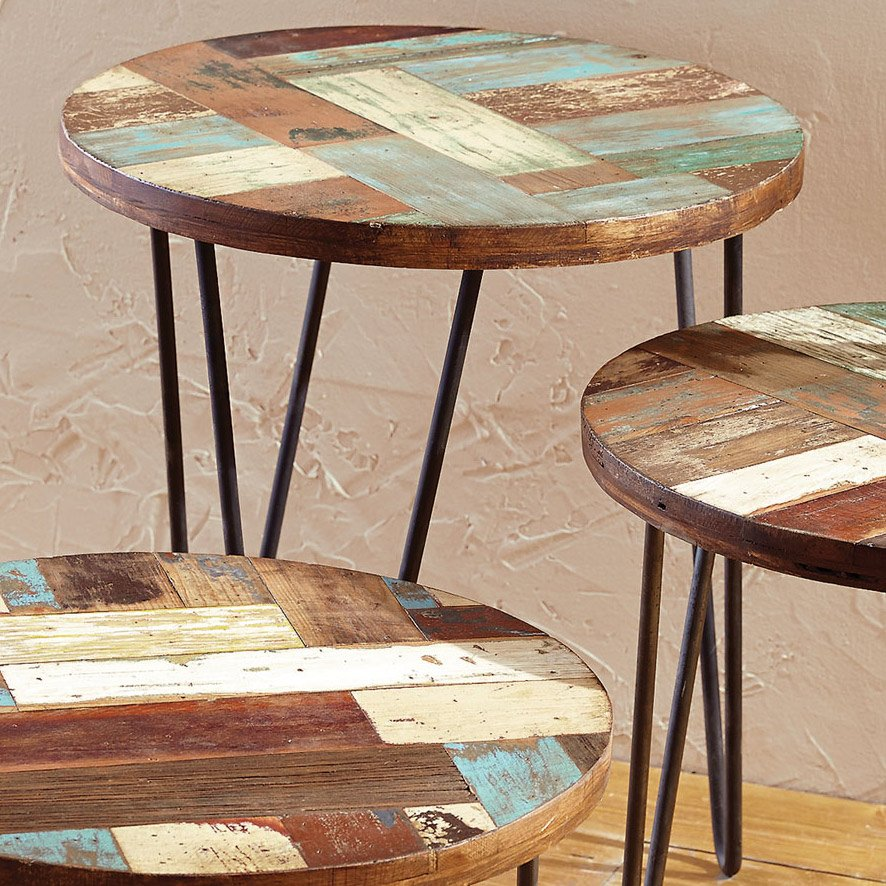 San Miguel Reclaimed Wood Side Table Large How To Reclaimed Wood Side Table