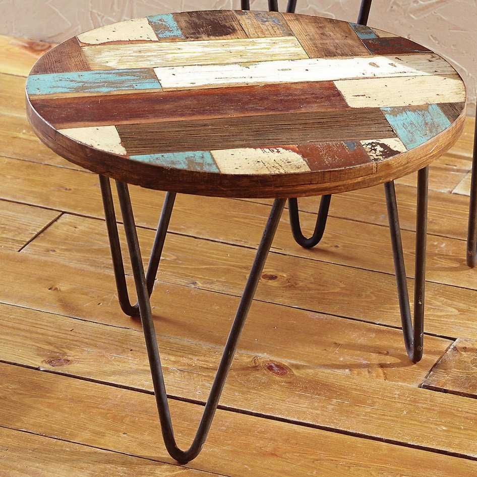 San Miguel Reclaimed Wood Side Table Small How To Reclaimed Wood Side Table
