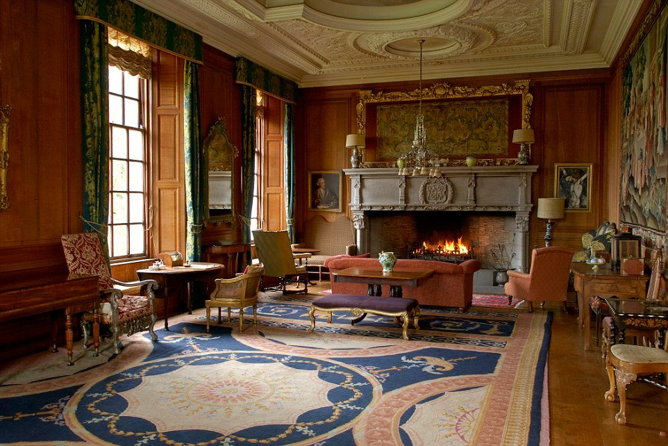 Scottish Country House Interior Fireplace House Design Mirrored End Table Ideas Decor