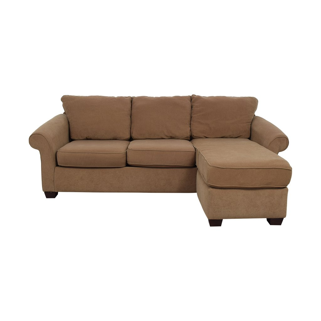 Sectional Sofa Chaise Costco Baci Living Room Suede Couch Home