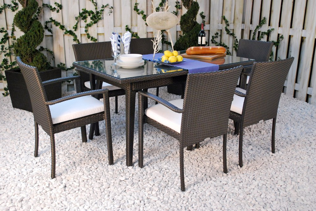 Senna Rectangular Wicker Dining Table Distributor Painted The Wicker End Tables