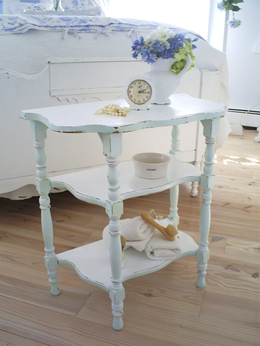 Shabby Chic Table Mirrored End Table Ideas Decor