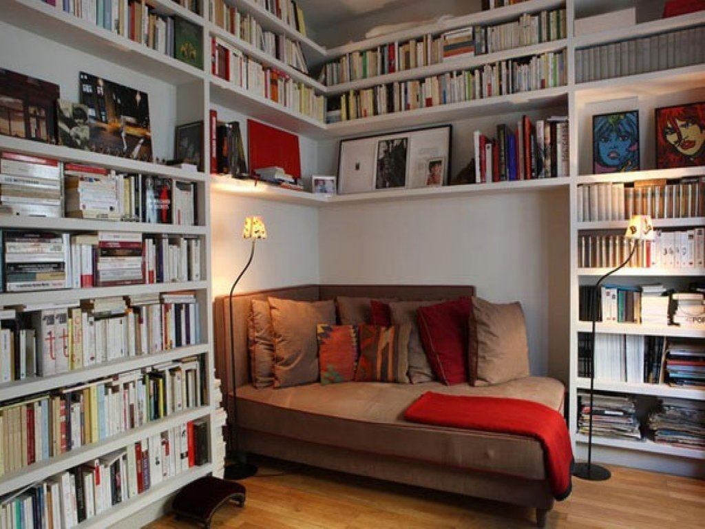 Shelf White Bookcase Small Home Library Idea Cozy How To Make An Bookcase Headboard