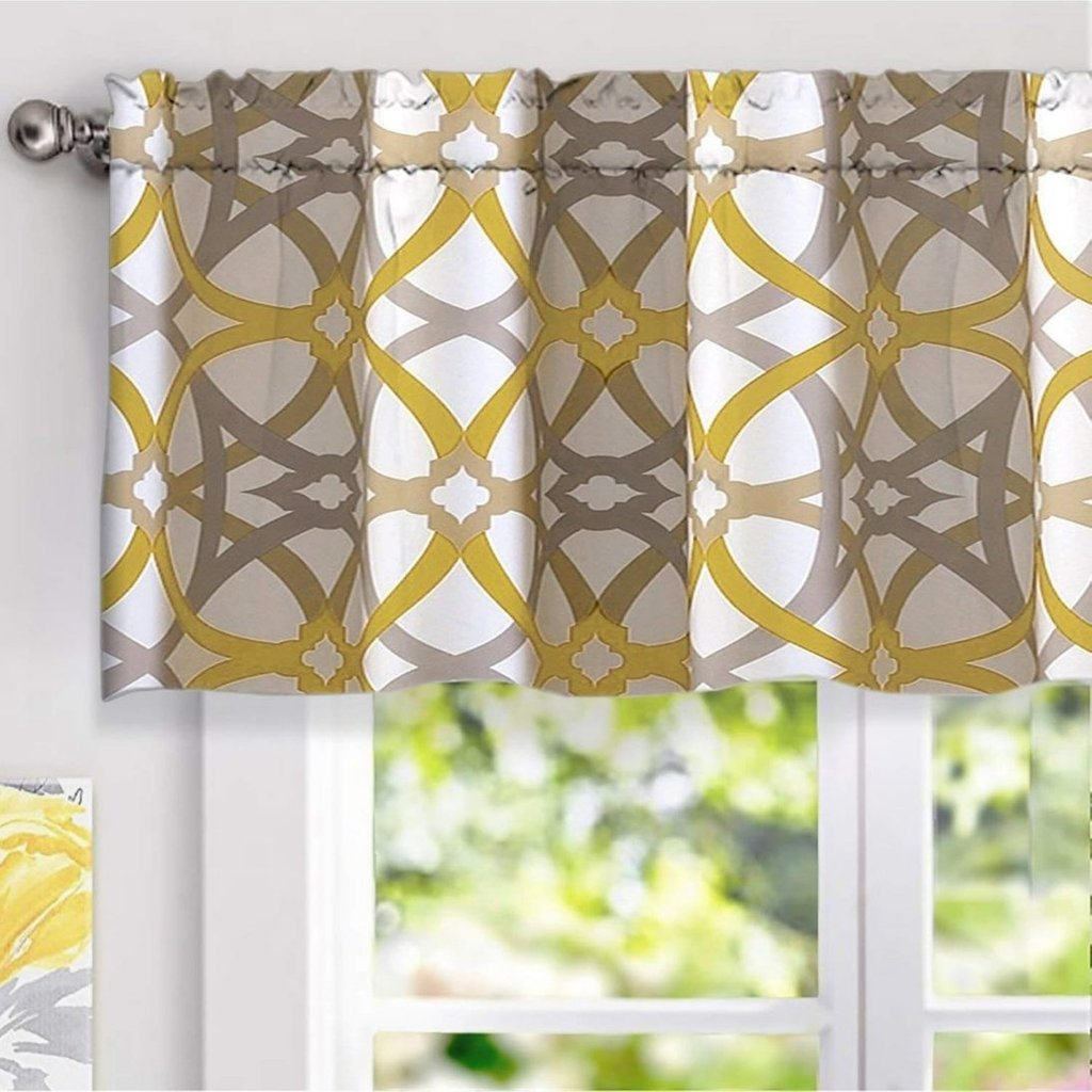 Shower Curtain Window Valance Set Diy Fabric Installation Of Pebble Tile