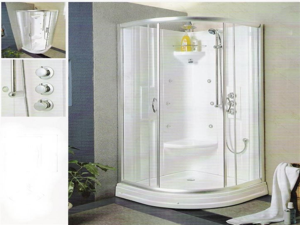 Shower Insert Seat Shower Stall Small Bathroom Surface Mount Medicine Cabinet Lighting