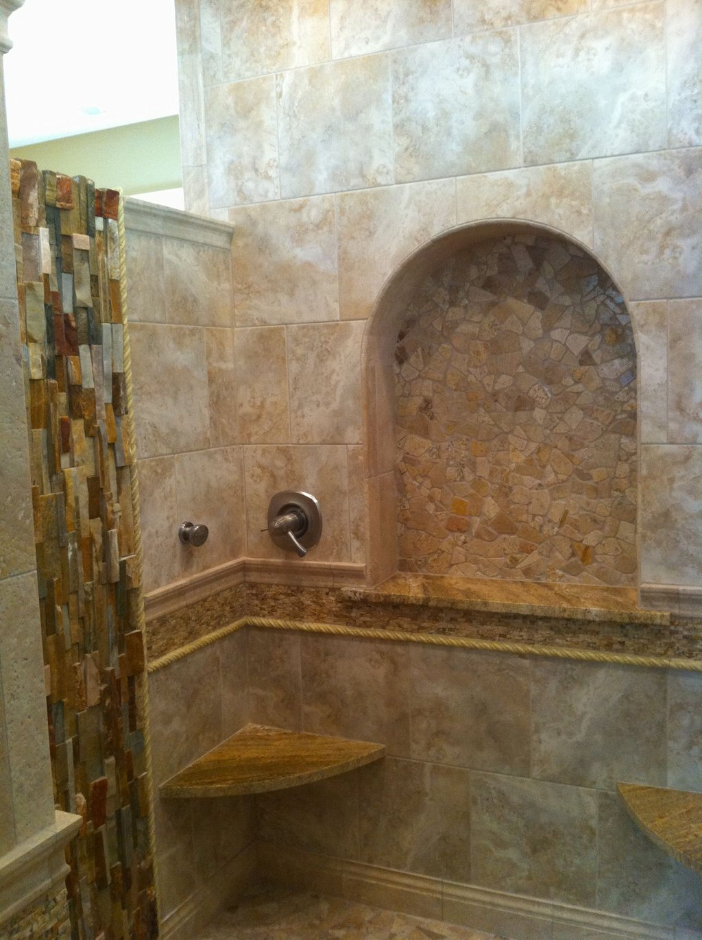 Shower Large Arched Shampoo Niche Jonathan Stanton Is Travertine Tiles Good For The Bathroom?