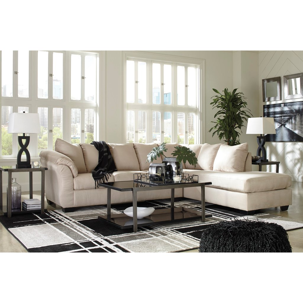 Signature Design Ashley Darcy Stone Contemporary So Many Choice Of Sleeper Sofa Sectional