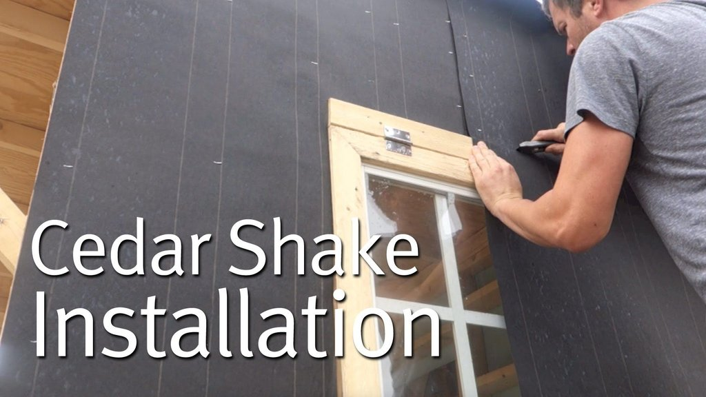 Simple Cedar Shake Siding Installation Tiny Home Wood Shake Siding Installation