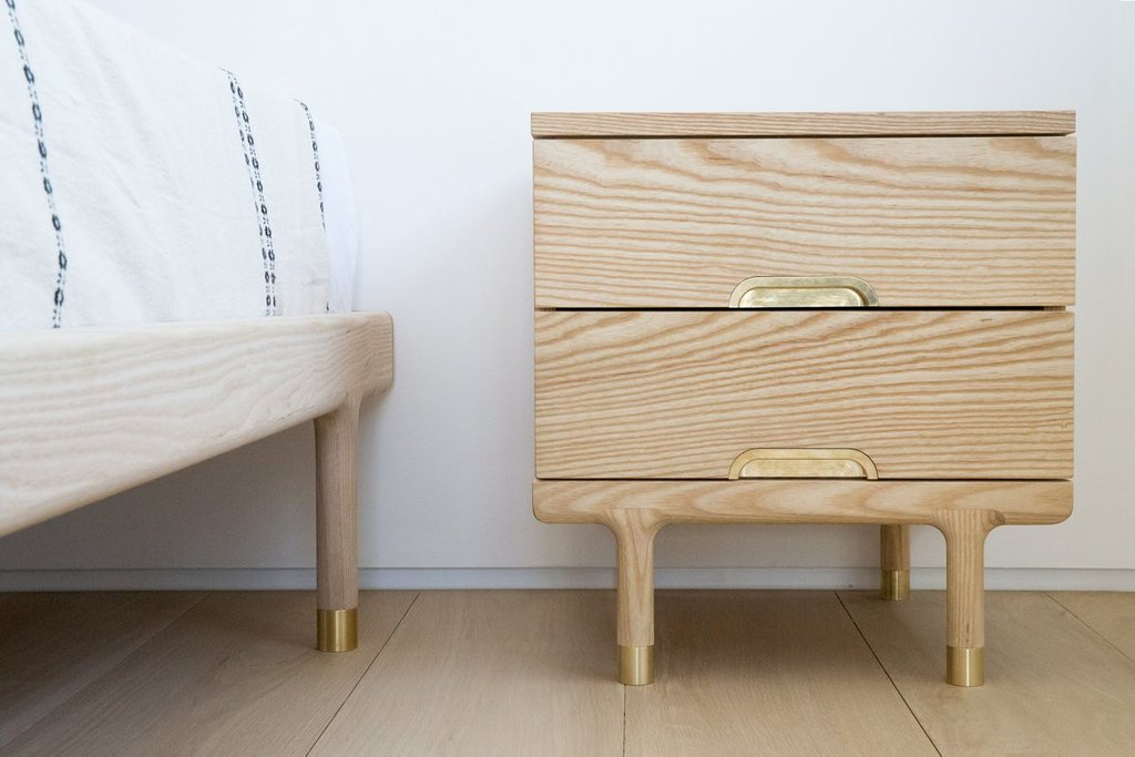 Simple Side Table Kalon Studio Interior Wooden Narrow 2 Drawer Lateral File Cabinet Wood