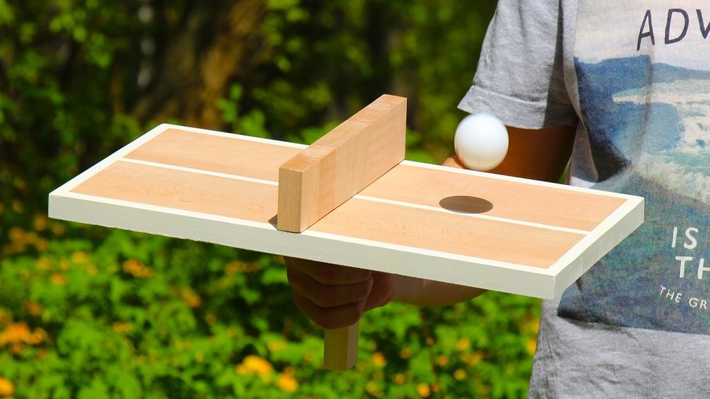Single Player Ping Pong Table Tennis How To Build Round Wood Table Tops