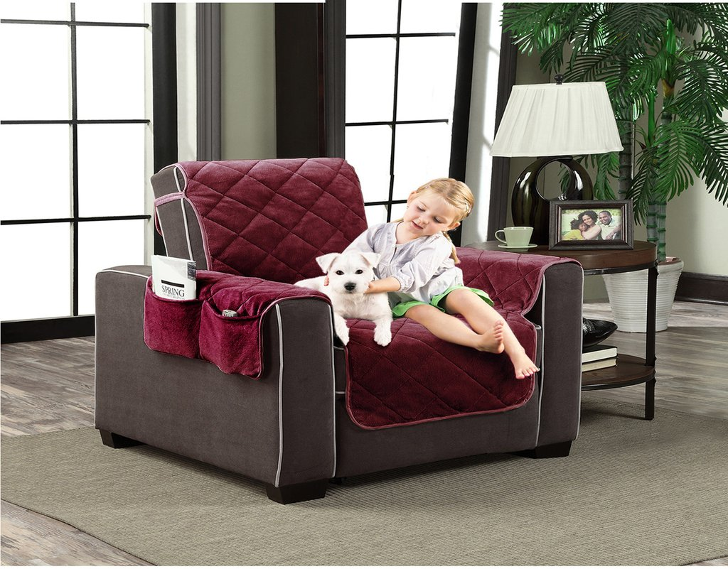 Slipcover Microfiber Reversible Pet Dog Couch Protector Sofa Protector Home Ideas