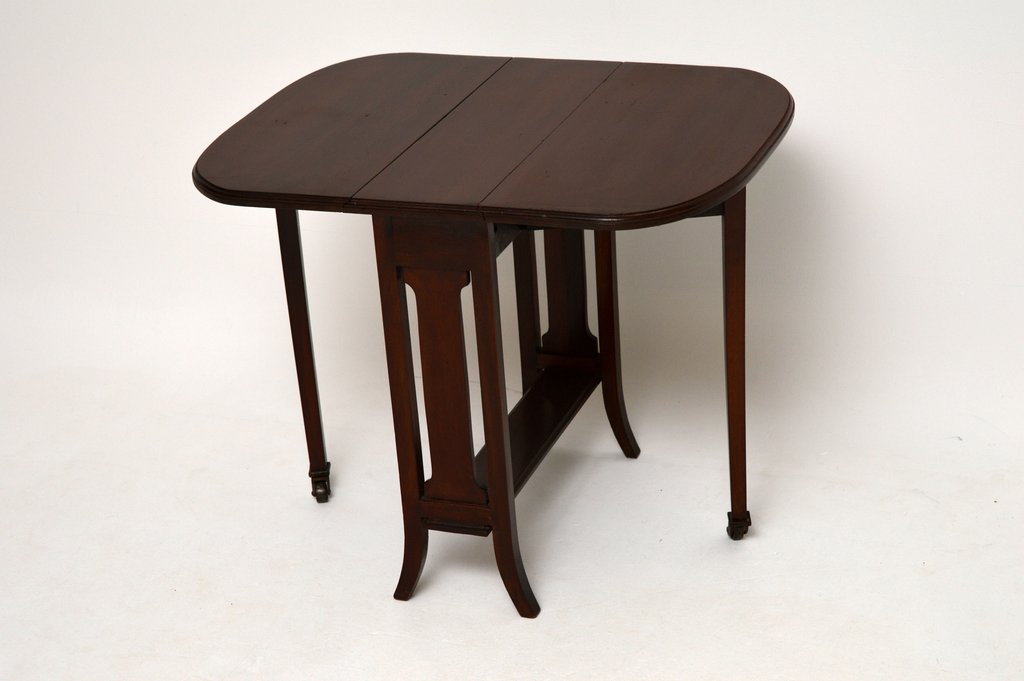 Small Antique Mahogany Edwardian Drop Leaf Sutherland Making An Drop Leaf Kitchen Table