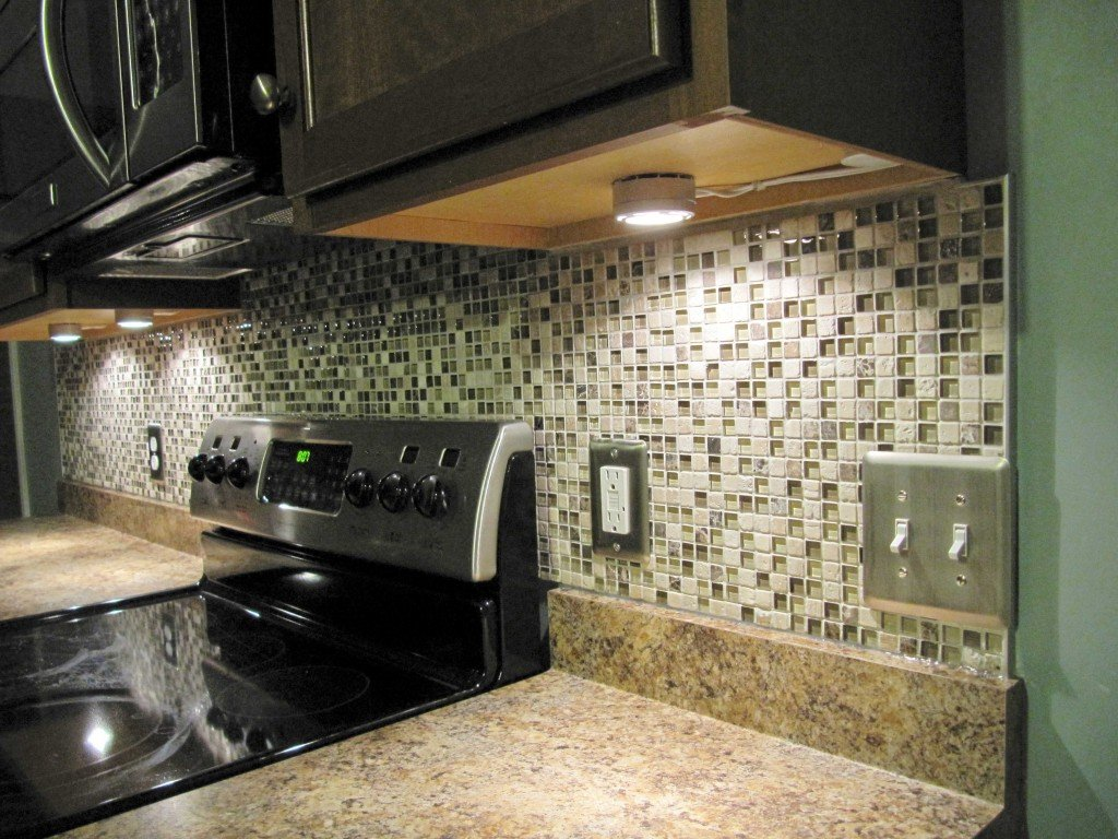 Small Ceramic Tile Backsplash Kitchen Cabinet Light Ideas For Backsplash Ideas With Dark Cabinets