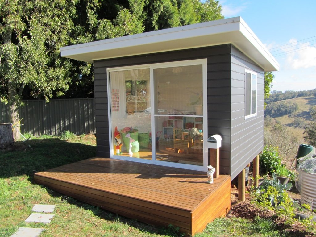Small Garden Kids Cubby Decorating Idea Kid Cubby Outdoor Wooden Playhouse With Slide