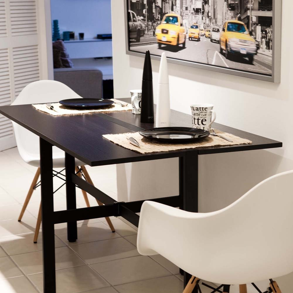 Small Modern Drop Leaf Kitchen Table Painted Black Making An Drop Leaf Kitchen Table