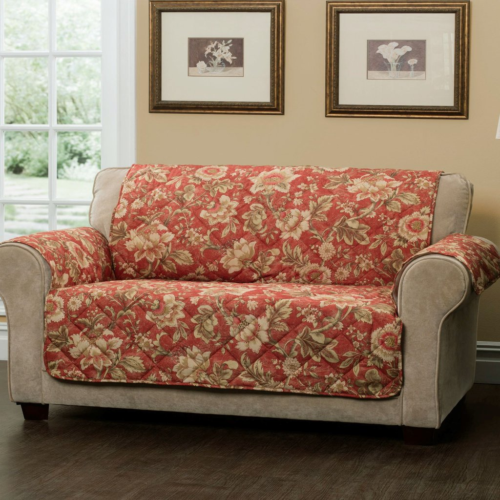 Sofa Protector Coffee Beige Plaid Quilting Sofa Cover How A Reclining Sofa To Function Properly