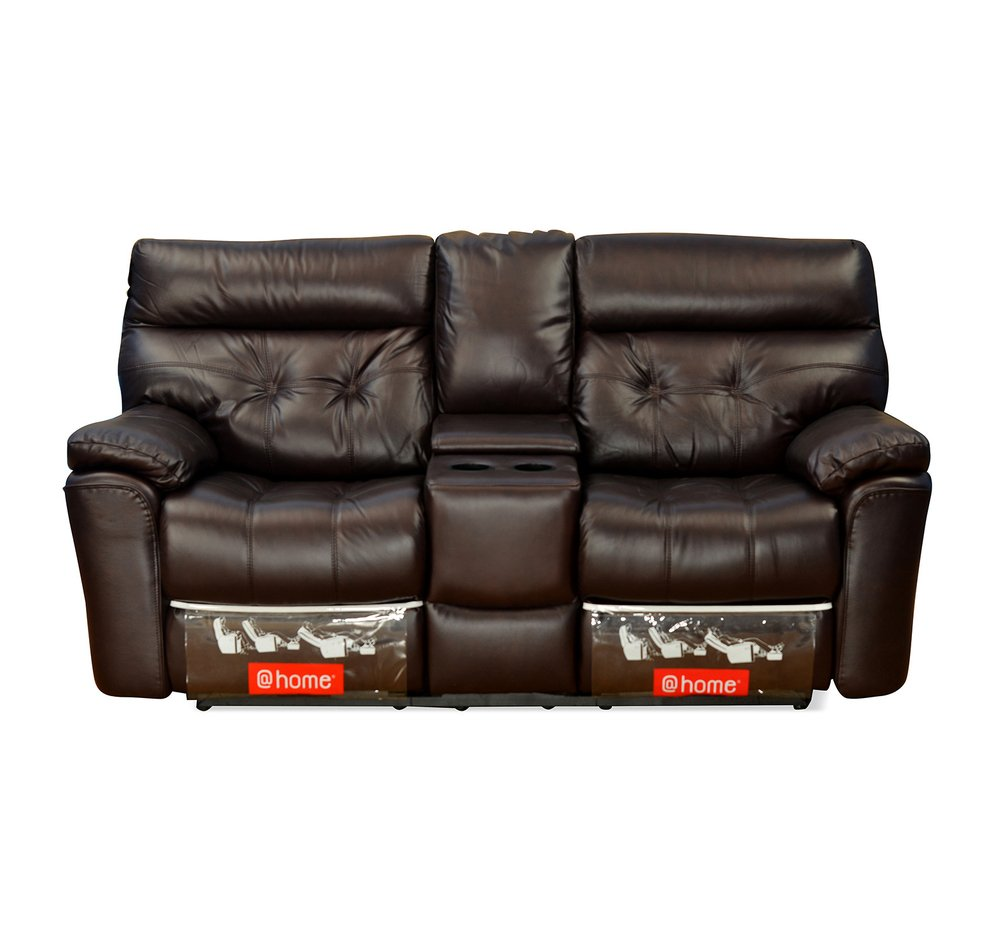 Sofa Recliner Baci Living Room Leather Sofa Recliner With Console