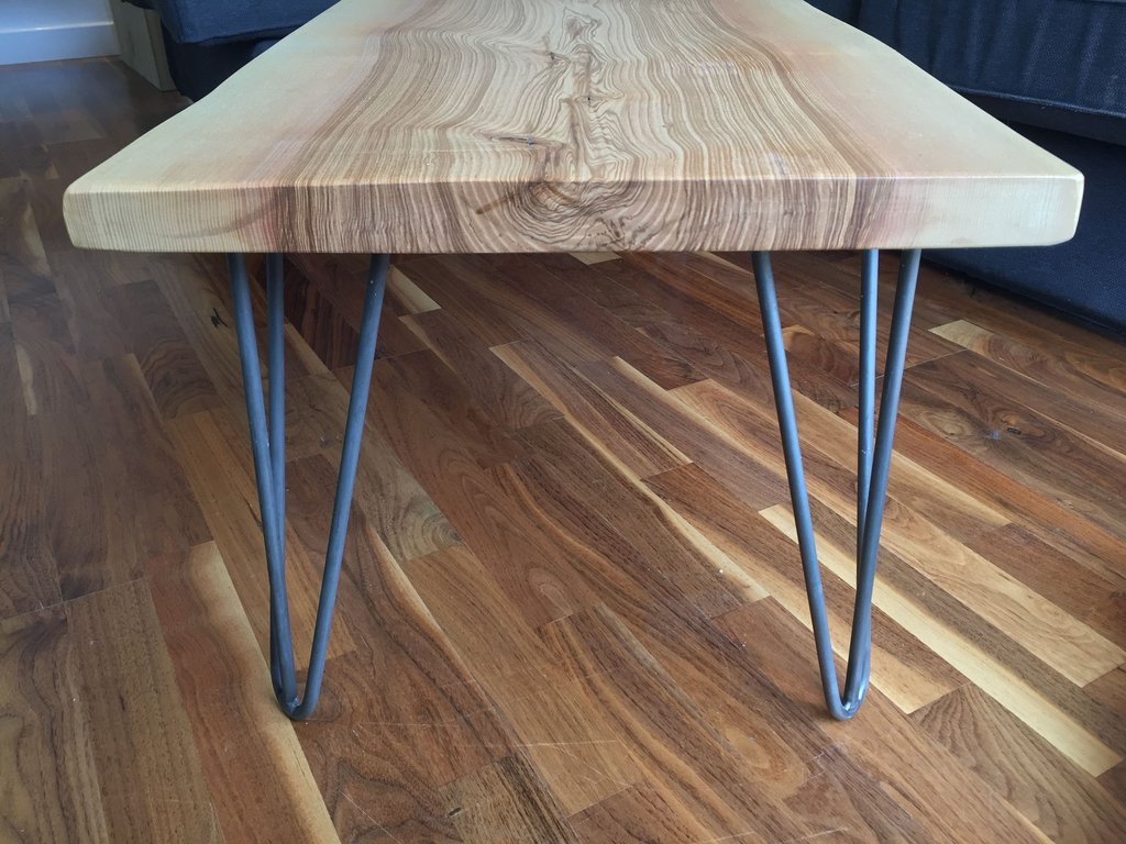 Solid Ash Slab Hairpin Leg Coffee Table Plane Grain A Unique Square Lift Top Coffee Table