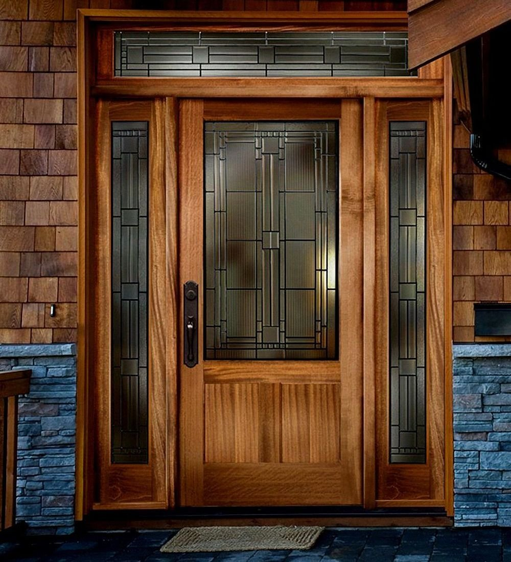 Solid Oak Exterior Doors Custom Front Door Modern Solid Wood Exterior Doors