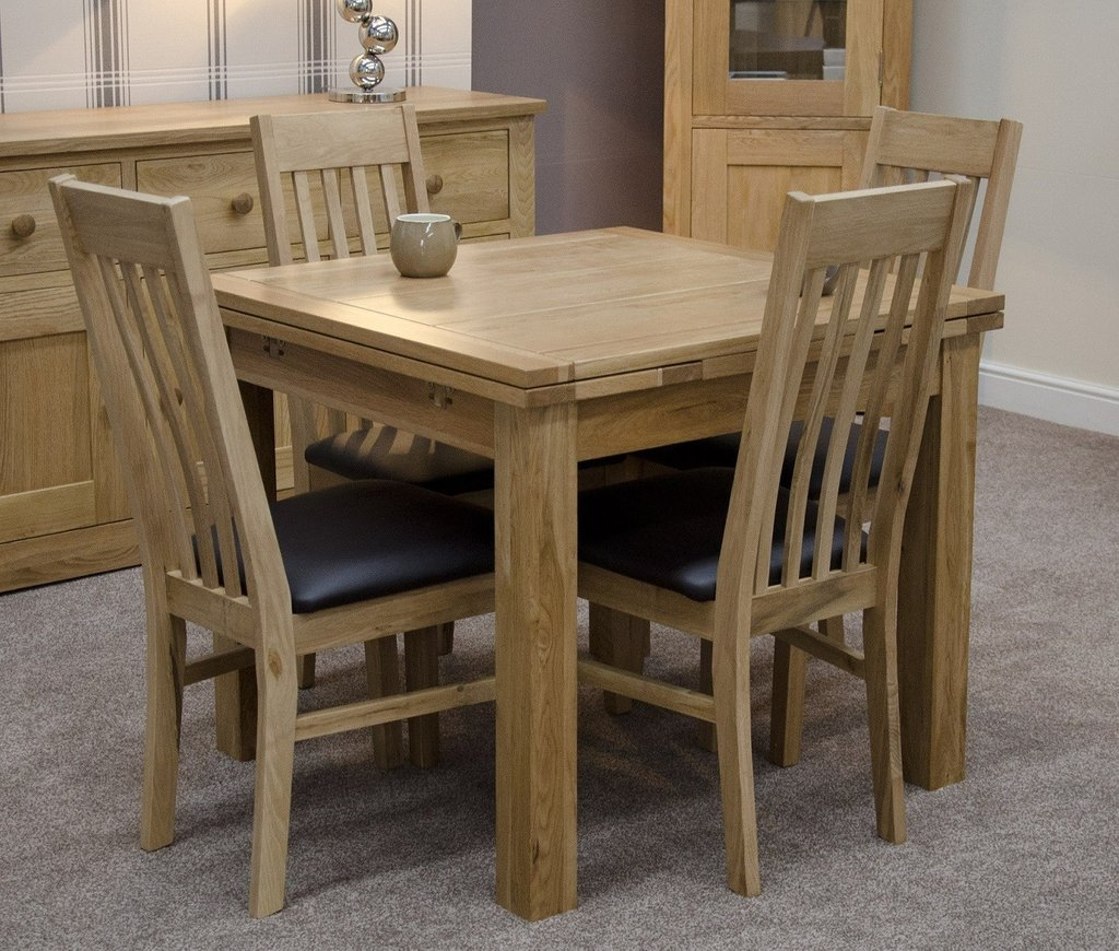 Solid Oak Small Draw Leaf Extending Dining Table Oak Classic Round Extendable Dining Table