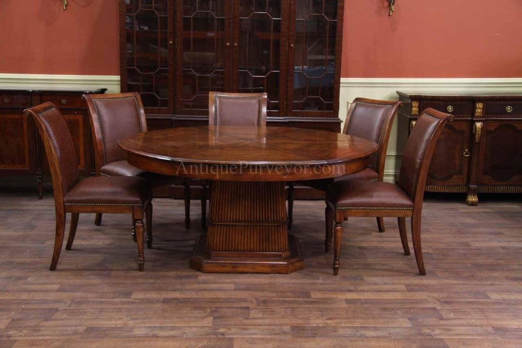 Solid Walnut Dining Table Storing Leaf Tablecloths For 72 Inch Round Dining Table