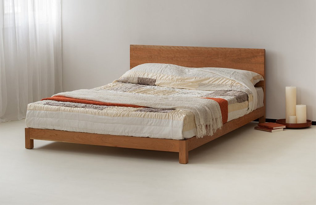 Sonora Solid Wooden Bed Natural Bed Company Platform Bed Frame Queen