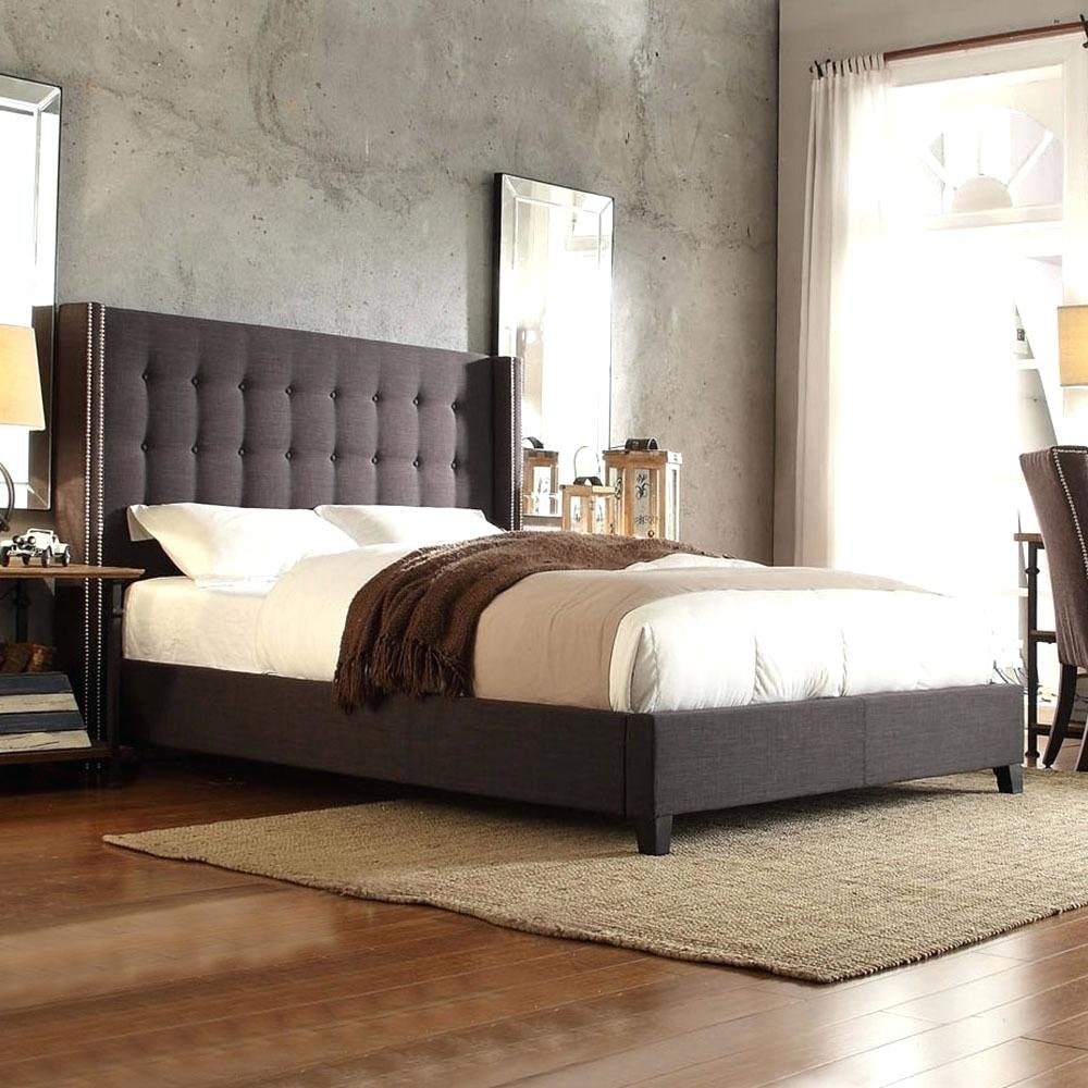 Sophisticated Upholstered Headboard Queen Home How Make Queen Bookcase Headboard