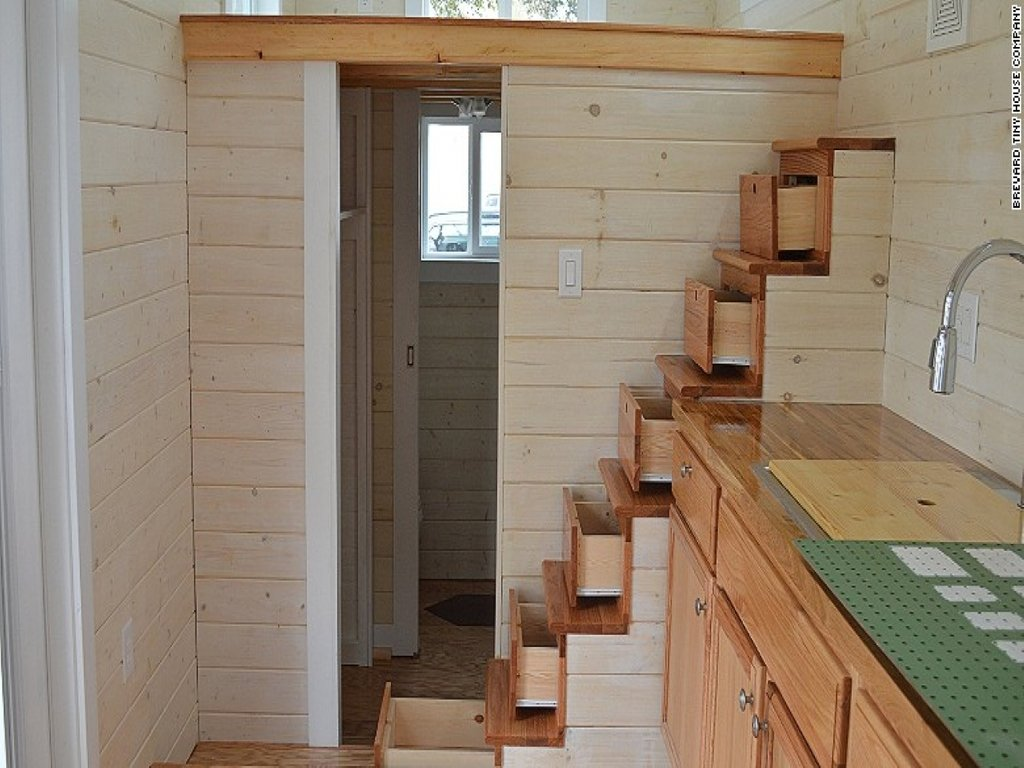 Space Saving Staircases Grid Tiny House Home Tiny Outdoor Wooden Spiral Staircase