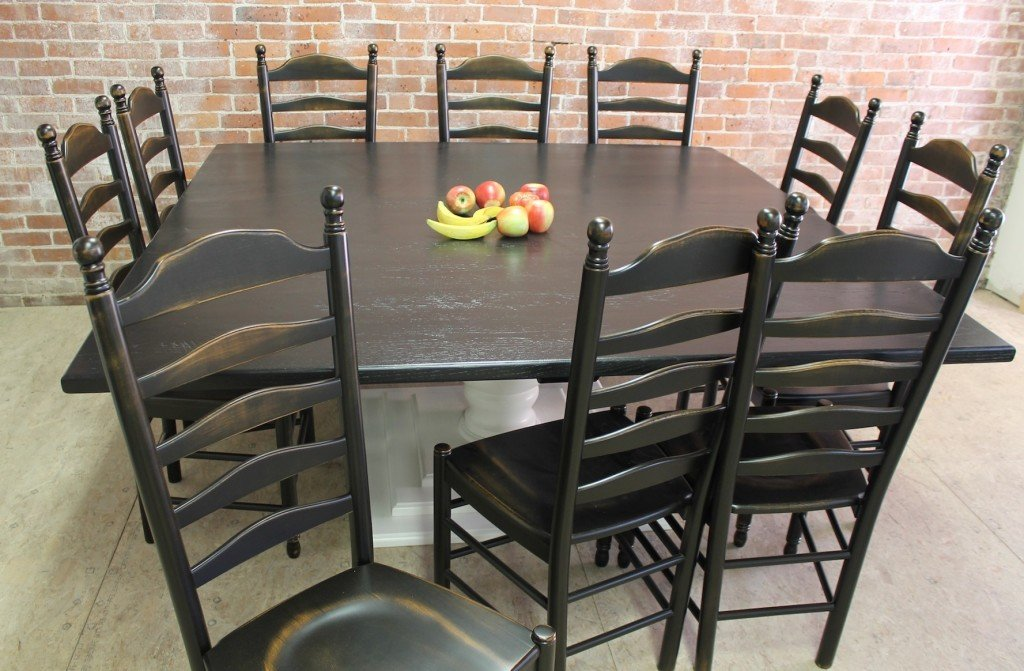 Square Table Built Reclaimed Wood Ecustomfinish How To Make Square Pedestal Dining Table