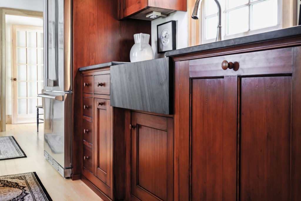 Stained Wood Kitchen Cabinet Staining Kitchen Cabinets Ideas
