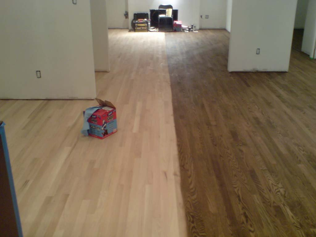 Staining Wood Floor Idea Staining Wood Floors With Dark Color