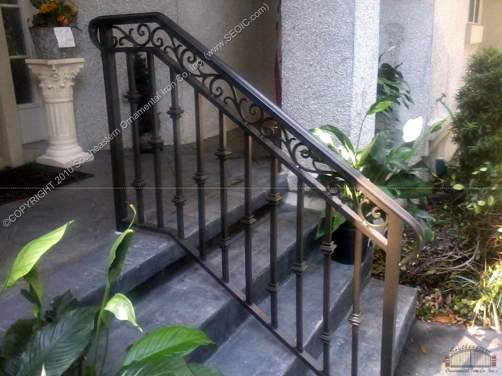 Stair Awesome Wrought Iron Porch Stair Rail Home Tile Effect Laminate Flooring For Bathrooms