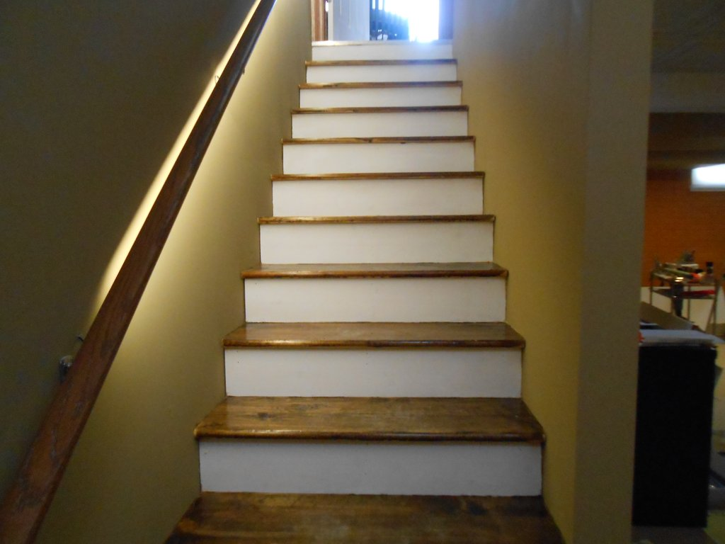 Stair Exciting Basement Stair Idea Beautifying Wood Paneling Makeover Remodel