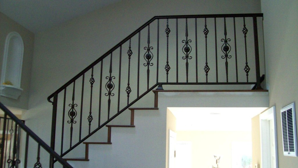 Stair Porch Step Rail Stair Railing Tile Effect Laminate Flooring For Bathrooms