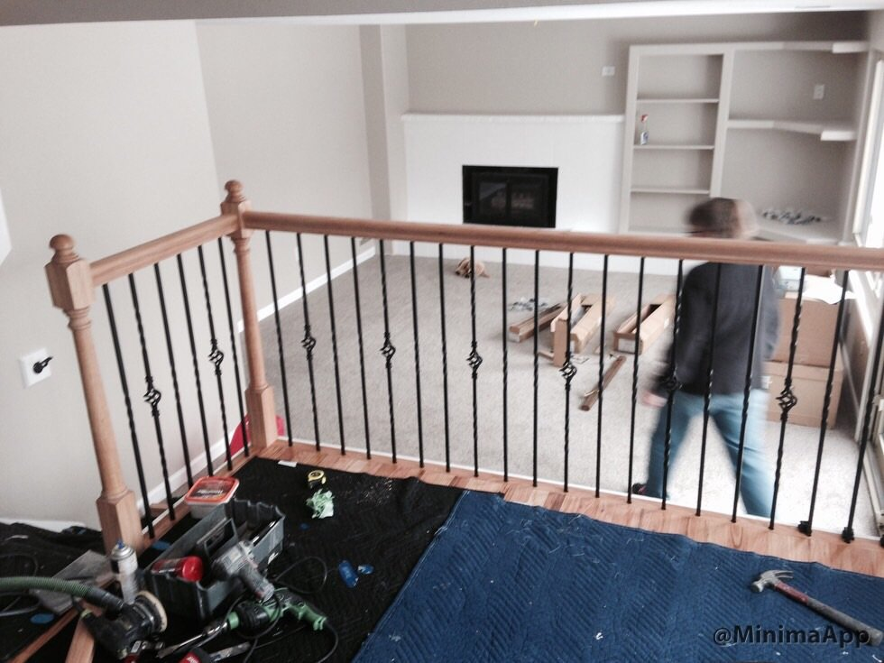 Stair Rail Install Part 3 Metal Baluster Markscarpentry How To Install Wood Balusters