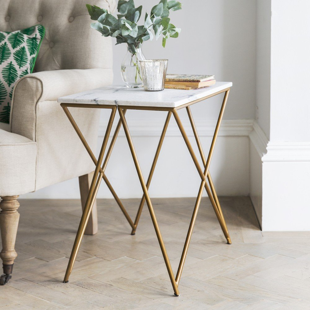 Stellar White Marble Side Table How To Reclaimed Wood Side Table
