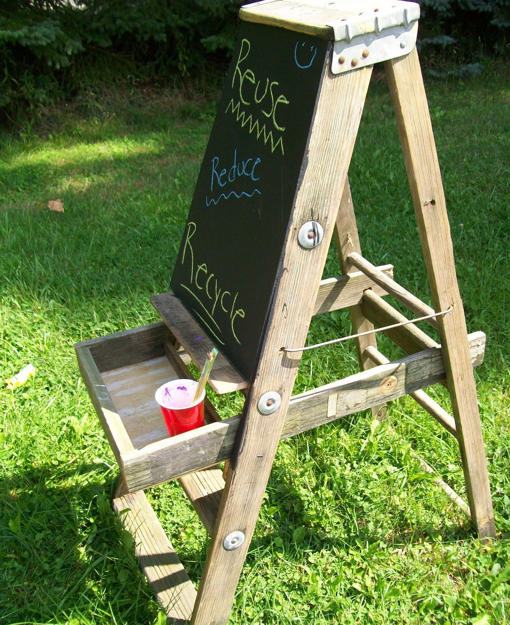 Step Ladder Painting Easel Kid Trash Treasure A Painter Table Top Easel